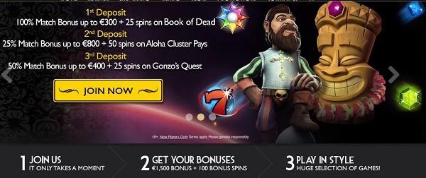 Welcome Bonus Pack for new deposits