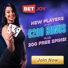 BETJOY Casino & Sports - €200 free bonus and 200 free spins