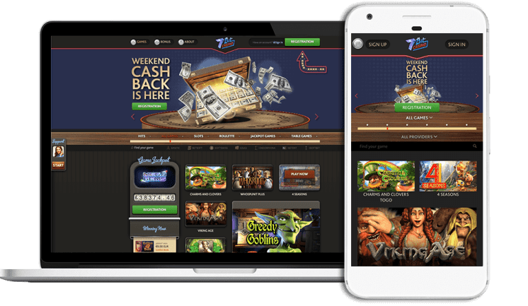 Online and Mobile Games at 7 Bit Casino