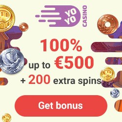 Yoyo Casino 200 free spins + 100% up to €500 bonus