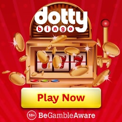Dotty Bingo Online Casino (UK) 50 free spins + 300% up to £300 gratis