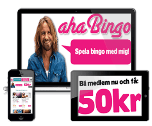 Aha Bingo Casino 50 kr gratis bonus - no deposit required!