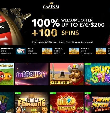 Casinsi Review