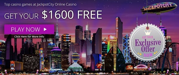 JackpotCity Casino $1,600 welcome bonus