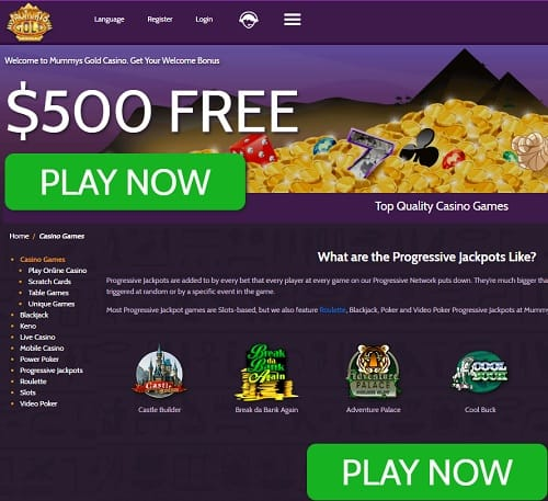Mummys Gold Casino Review
