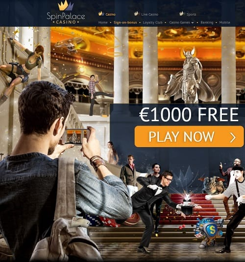 SpinPalace Casino free spins bonus