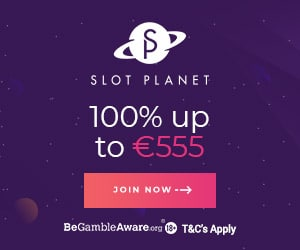 Slot Planet Casino €10 gratis + 10 free spins + 100% up to €555 bonus