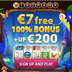 Winorama - €7 no deposit bonus! Free scratch cards and slot games!