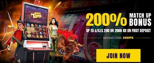 Power Spins 200% welcome bonus