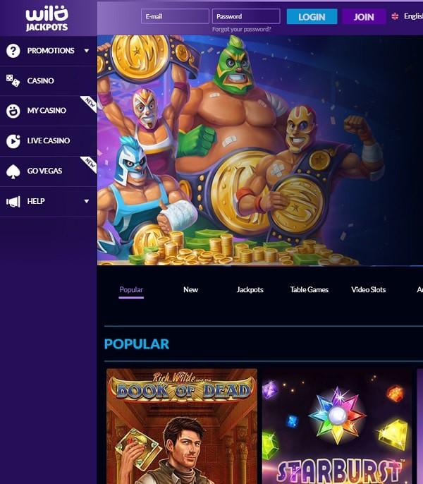 Wild Jackpots Casino welcome bonus and promotions