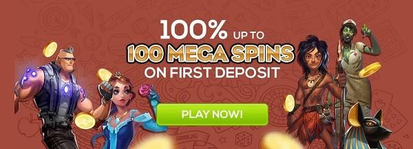 Get 100 free spins bonus to Queen Vegas Casino