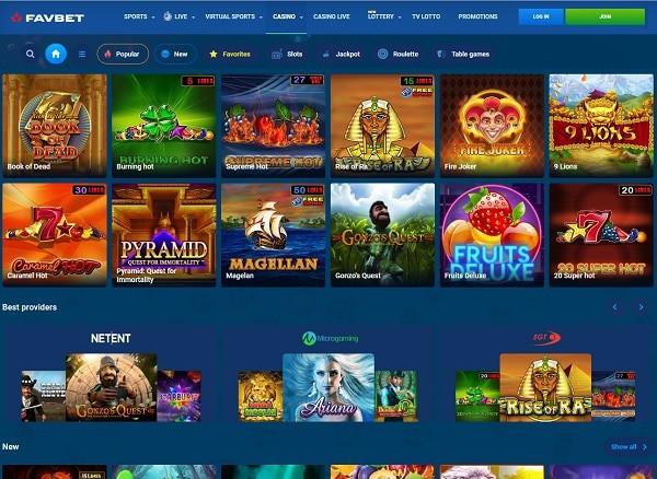 FAVBET Casino Review