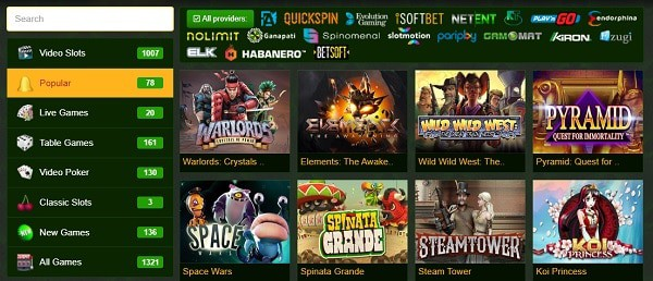 New games, free spins and live dealer