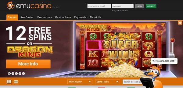 12 free spins on Dragon King slot