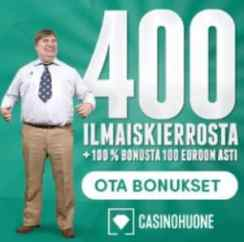 CasinoHuone - 400 free spins and €100 welcome bonus for Finland