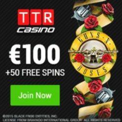 TTR CASINO 50 free spins and €100 (1 bitcoin) free bonus
