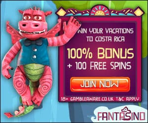 Fantasino Casino €700 gratis bonus and 100 free spins on 1st deposit