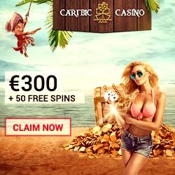 Caribic Casino 125 free spins on NetEnt slots & €300 free bet bonus