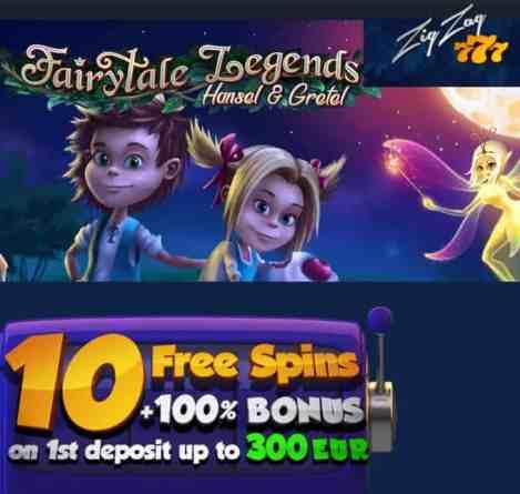 ZigZag777 Casino 10 free spins no deposit bonus + 100 free spins + 100% welcome bonus!