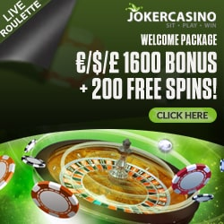 Joker Casino | 200 free spins + €1600 welcome bonus | big jackpot wins!