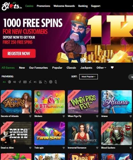 Slots.io Bitcoin Casino