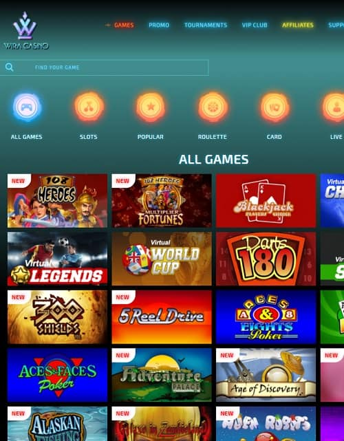 Wira Casino bitcoin game