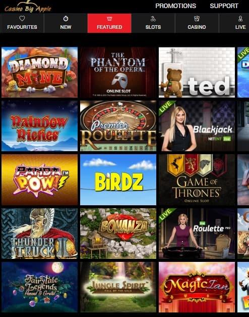 Big Apple Casino free spins bonus
