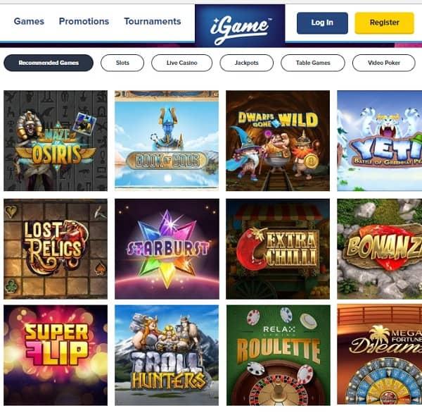 iGame Casino free spins bonus