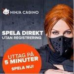 Ninja Casino 500 free spins (ilmaiskierrosta) bonus – Sweden / Finland