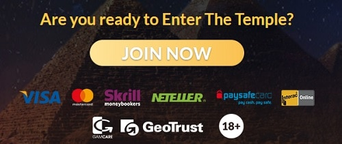 Temple Nile Casino log in and sign up