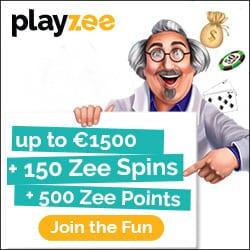 Playzee Casino free bonus: €1500 gratis and 150 Zee Spins