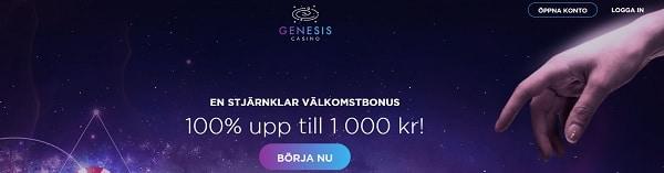 GenesisCasino.com welcome bonus
