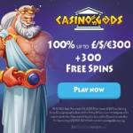 Casino Gods 300 gratis spins and 100% free bonus