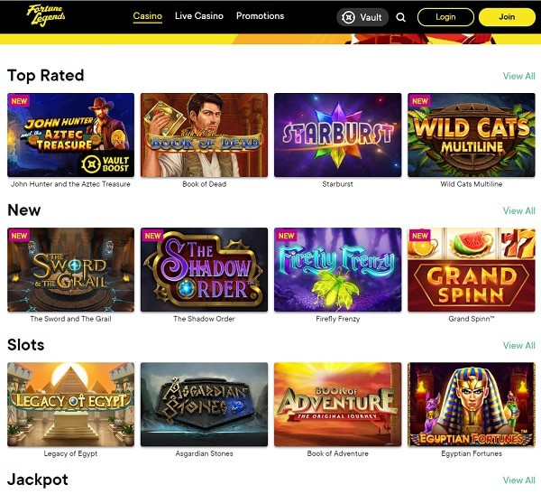 Welcome to Fortune Legends Online Casino!