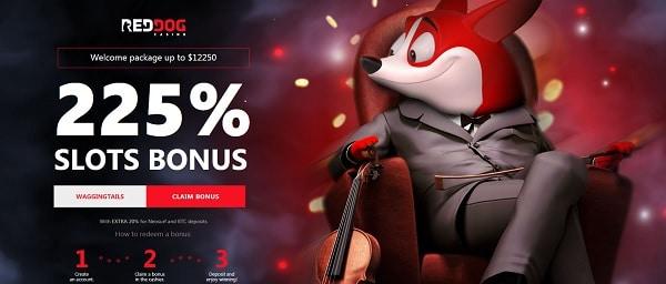 Red Dog Casino 225% welcome bonus code
