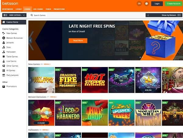 Betsson Casino Review Full