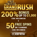Grand Rush Casino (AU/NZ) 50 free spins on Zodiac pokie