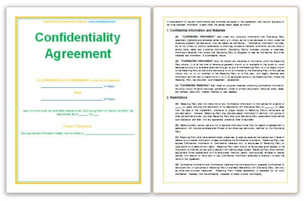 Confidentiality Statement Templates