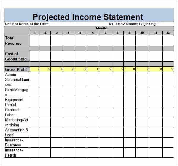 6 Free Income Statement Templates Word Excel Sheet PDF – Blank Income Statement Template