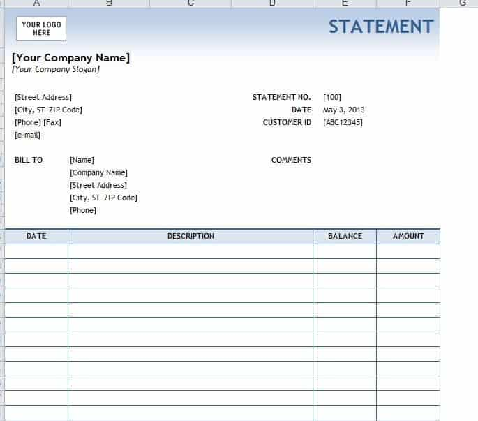 Invoice And Statement