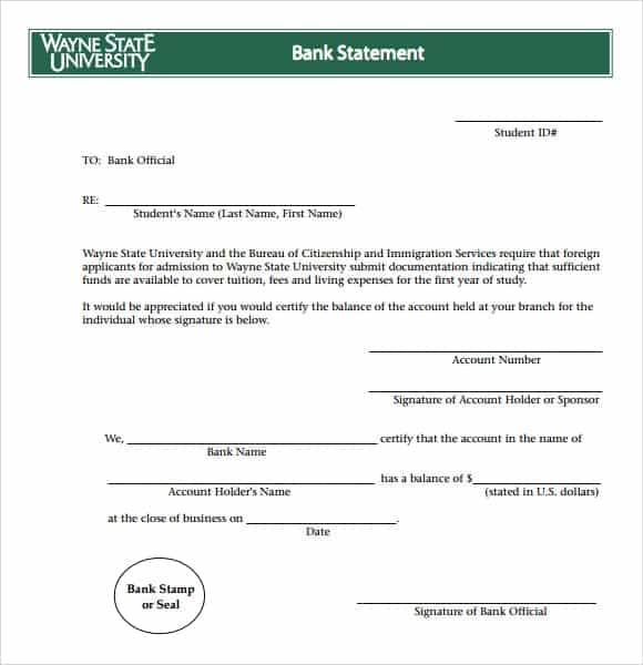 9 Free Bank Statement Templates - Word Excel Sheet Pdf