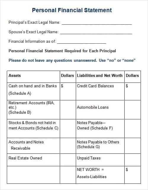 account receivable statement template
