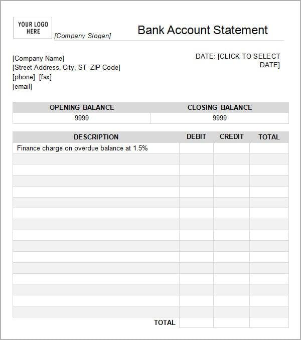 6 free statement of account templates word excel sheet pdf maxwellsz