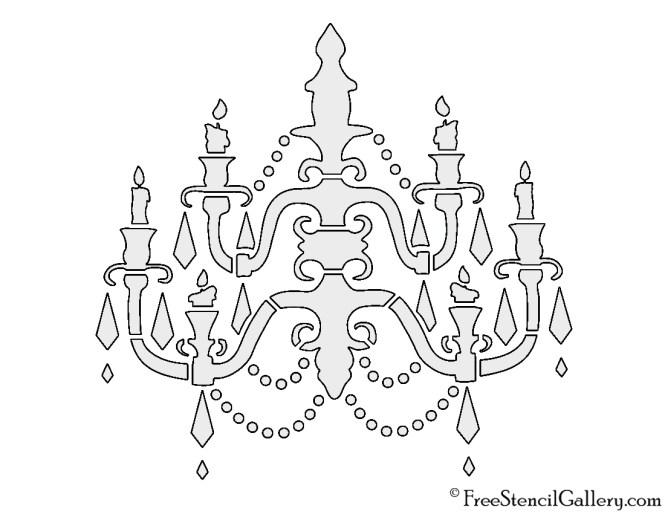 Chandelier stencils chandelier ideas chandelier stencil free gallery mozeypictures Images