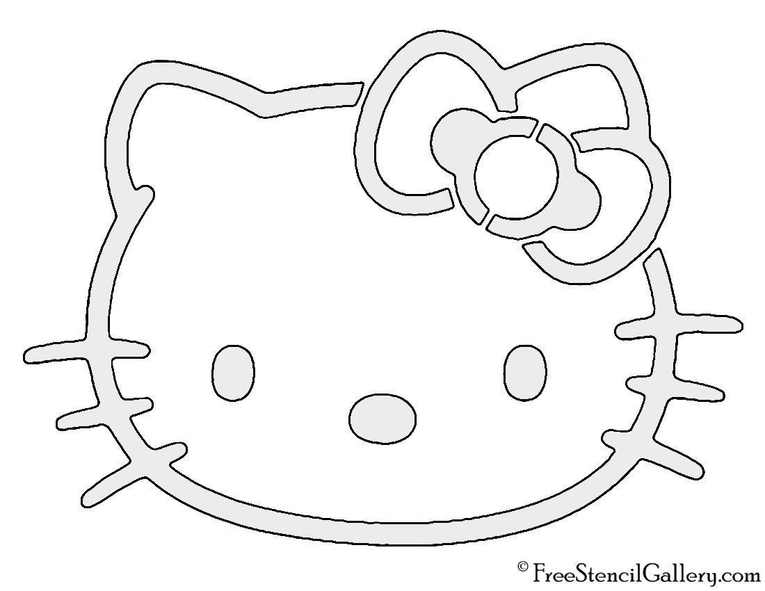 Hello Kitty Stencil