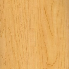 Hard Maple, sometimes called Rock Maple, is a fine grained, light colored wood. It's color will deepen to a golden hue over time.