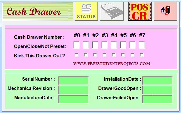 Cash drawer software