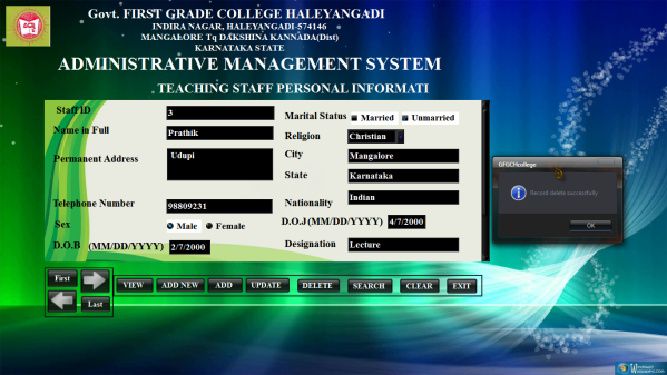Administrative Management System