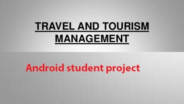Android Travel Management System