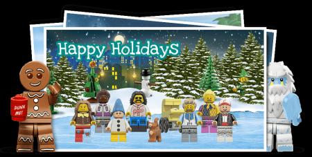Free LEGO Minifigure Family Postcard